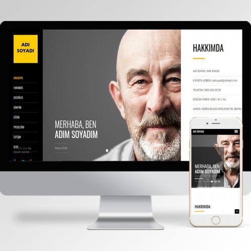 Kişisel Web Sitesi Teması v5