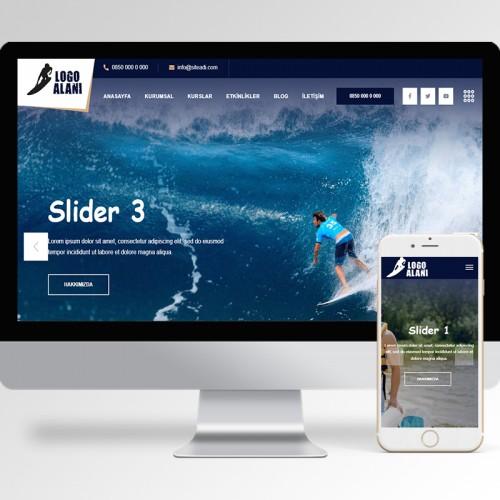 Sörf Kursu Teması v2